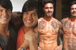 Os Gêmeos, Gustavo e Flávio atualmente estão casados e trabalhando nos Estados Unidos (Montagem: TV Foco)