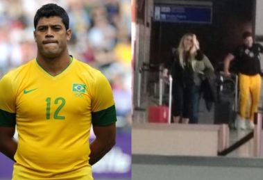Hulk e Camila Ângelo (Foto: Reprodução/Coluna Leo Dias)