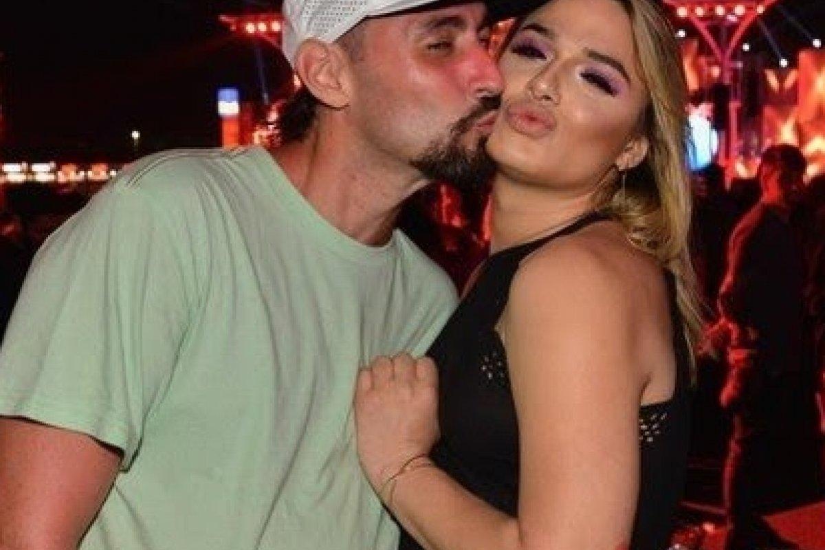 Glamour Garcia e o ex-namorado, Gustavo Dagnese (Foto: Reprodução)