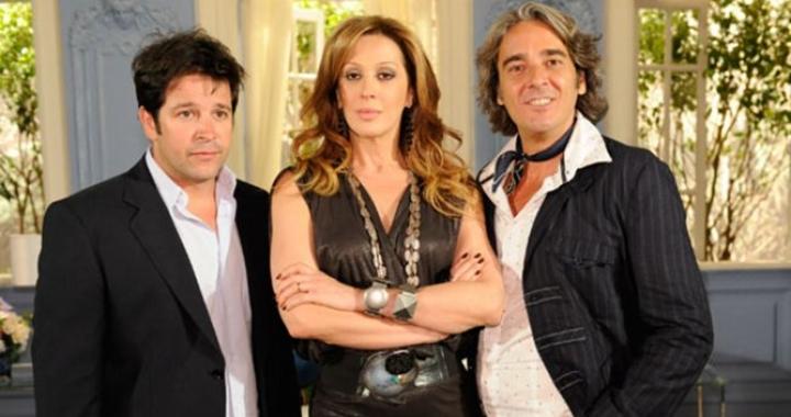 Murilo Benício, Claudia Raia e Alexandre Borges formavam o trio de protagonistas de Ti Ti Ti. (Foto: Divulgação)