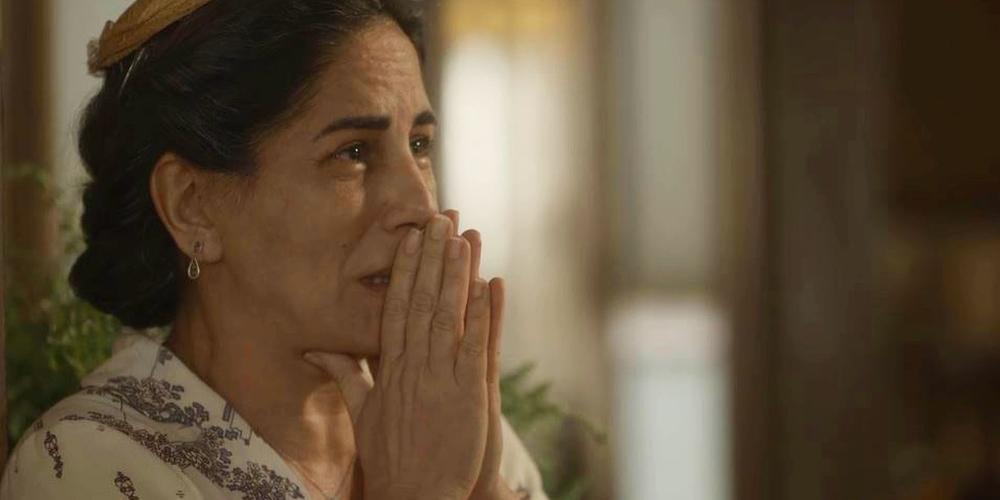 Lola irá aos prantos em Éramos Seis na novela da Globo (Imagem: Reprodução)