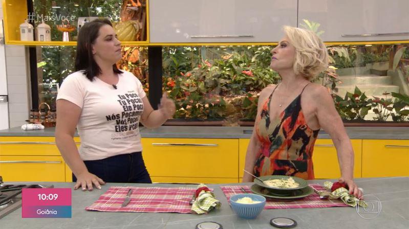 Paola foi entrevistada por Ana Maria Braga (Foto: Reprodução/Globoplay)