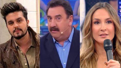 Ratinho comemora 21 anos no SBT e não poupa polêmicas em suas falas que já foram indiretas para Luan Santana e Claudia Leitte (Montagem: TV Foco)