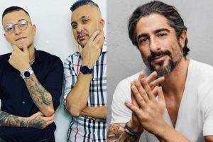 Rogério, MC Gui e Marcos Mion