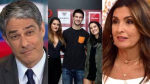 William Bonner e seus filhos com Fátima Bernardes (Foto: Reprodução/TV Globo/AgNews/Montagem TV Foco)