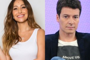 A famosa modelo, Sabrina Sato e o apresentador da Record, Rodrigo Faro viraram o assunto do momento nas redes sociais (Foto: Montagem TV Foco)