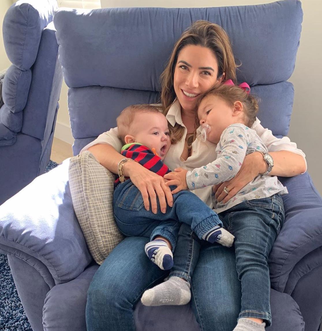 Patrícia Abravanel com os filhos, Senor e Jane