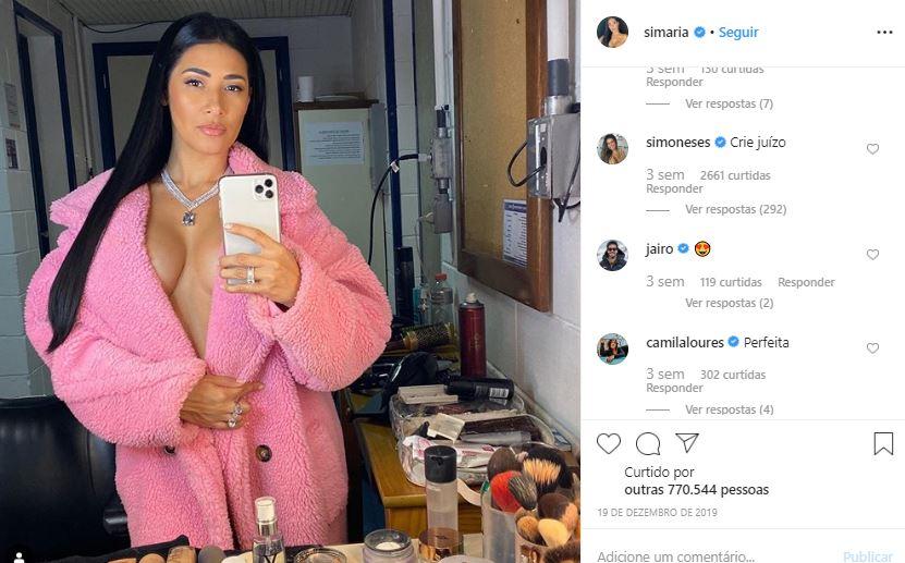Simaria recebeu comentário inusitado de Simone (Foto: reprodução/Instagram)