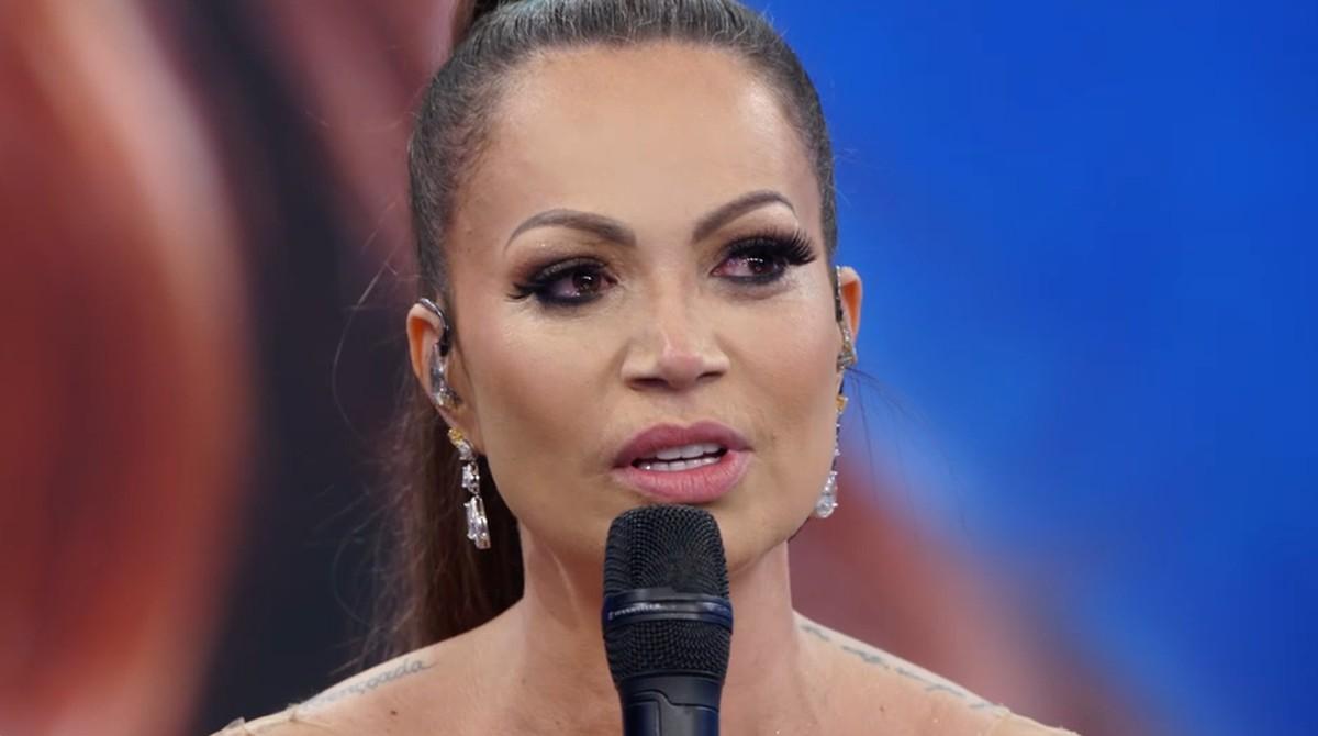 Solange Almeida foi bastante criticada após participação no Domingão do Faustão (Foto: Reprodução)