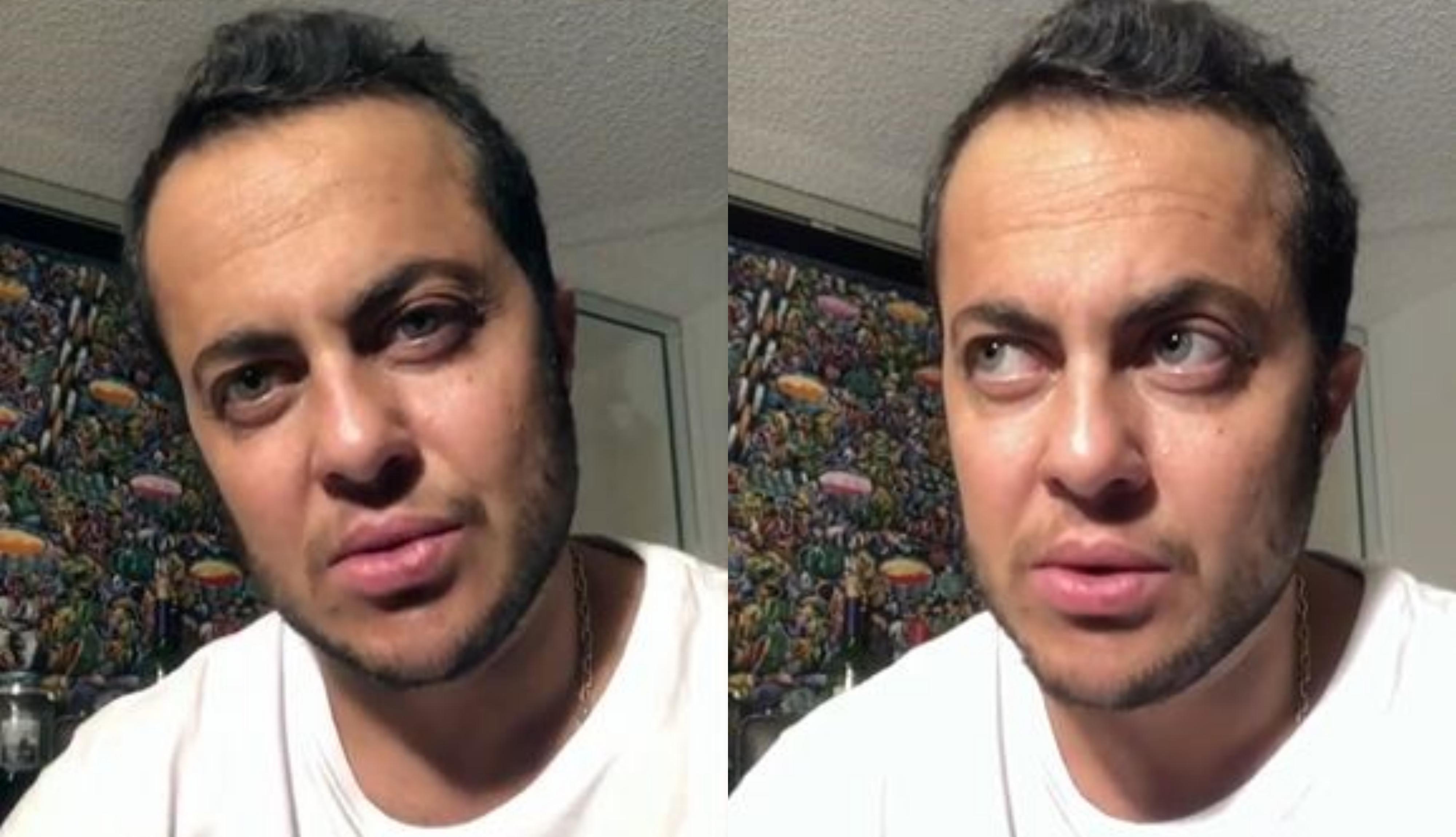 O famoso ex-ator da Globo Thammy Miranda falou sobre a postagem que Carlos Bolsonaro fez falando sobre o nascimento de seu primeiro filho com Andressa Ferreira (Foto: Reprodução/Instagram)