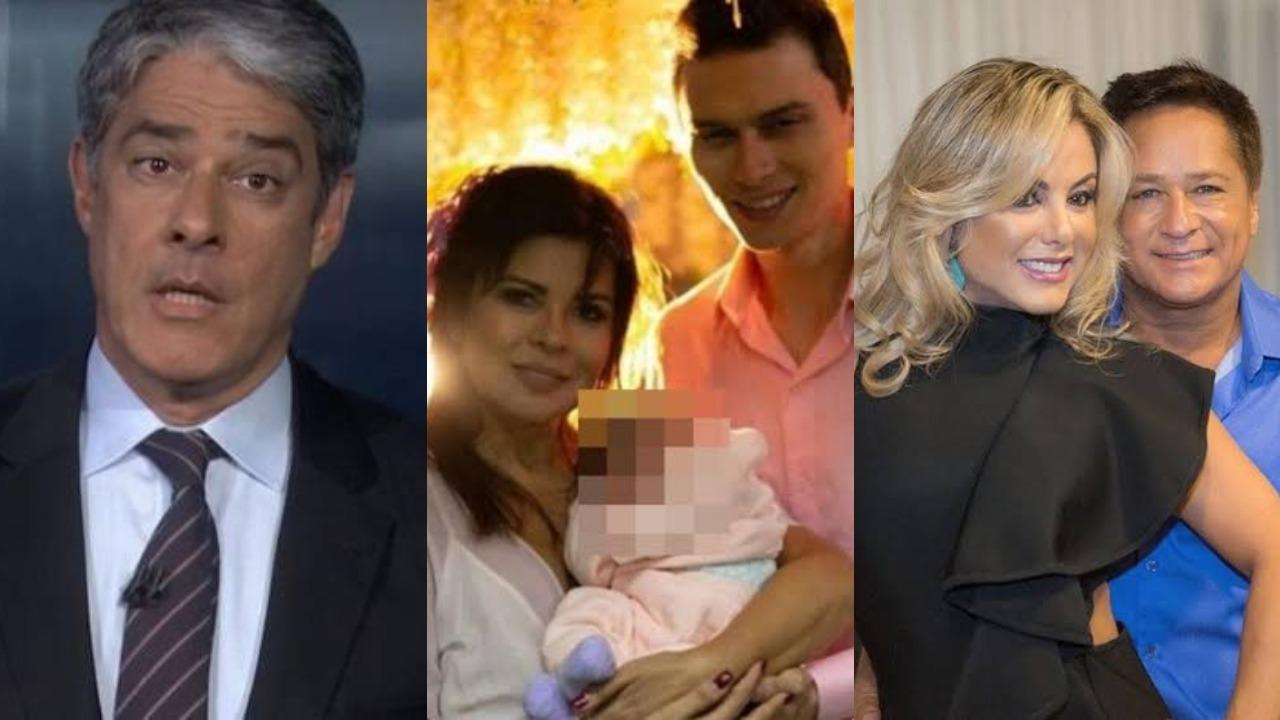 William Bonner, Mara Maravilha, Poliana Rocha e Leonardo (Foto: Reprodução/Instagram/Montagem TV Foco)