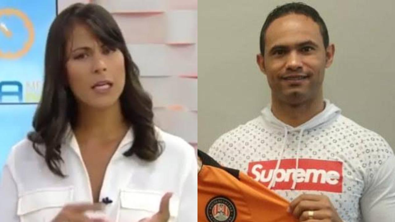 Jéssica Senra e o goleiro Bruno (Foto: Reprodução/TV Globo/Montagem TV Foco)