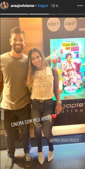 Viviane Araújo e namorado (Foto: Reprodução/Storie)