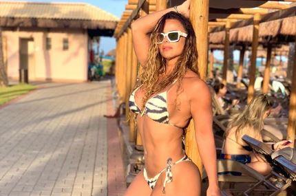 A famosa rainha de bateria e atriz da Globo, Viviane Araújo se tornou um dos assuntos mais comentados ao expor o seu novo namorado novamente nas redes sociais (Foto: Reprodução/Instagram)