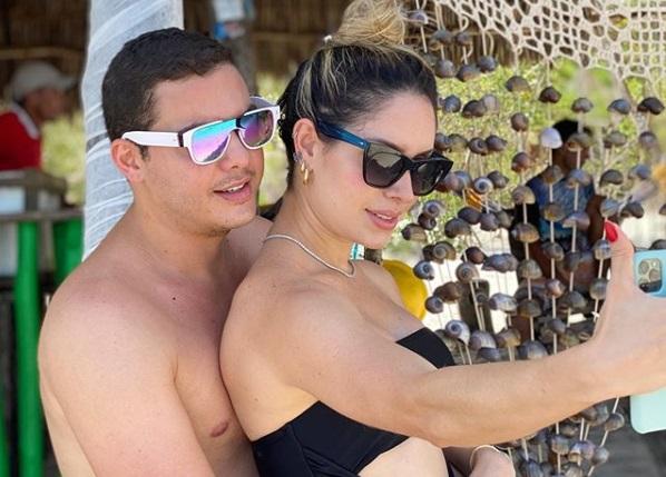 Wesley Safadão e sua mulher, a influenciadora Thyane Dantas (foto: reprodução)