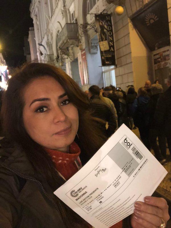 Laís Roca viajou de Belém (PA) para ver os shows de Madonna em Lisboa (Foto: Reprodução)