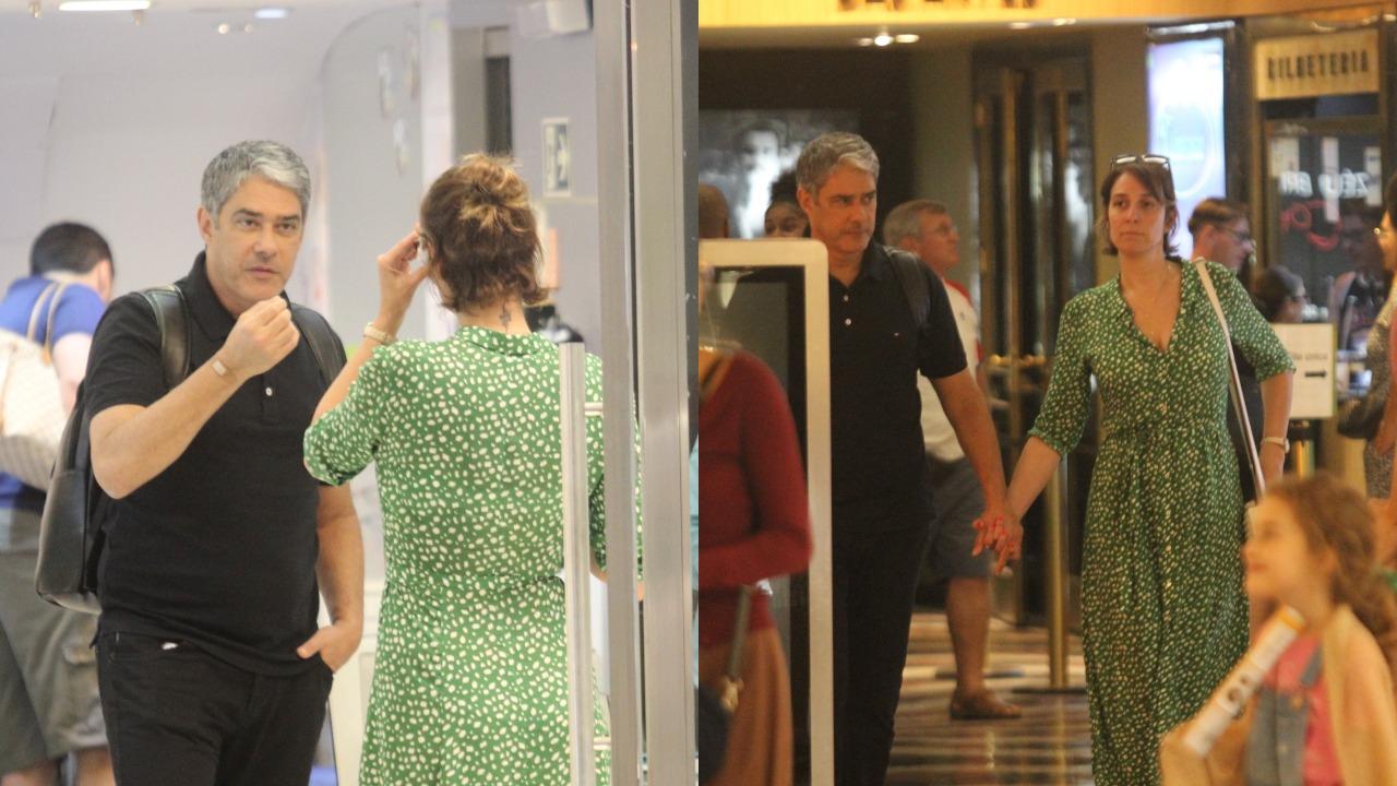 William Bonner e Natasha Dantas (Foto: Rodrigo Adão/AgNews/Montagem TV Foco)