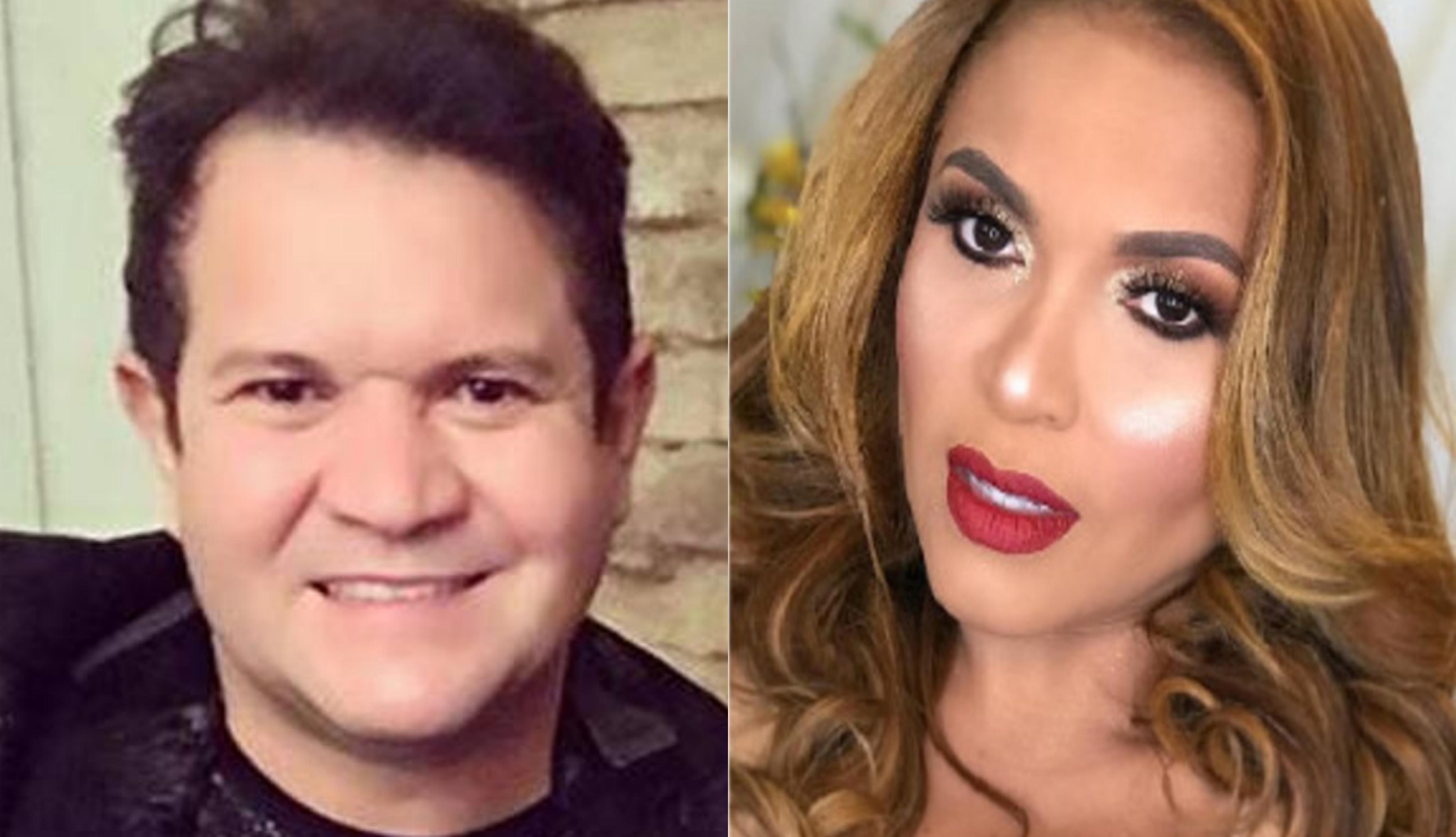 Após ser acusado de de agressão por Joelma, o famoso empresário e ex-guitarrista da Banda Calypso, Ximbinha voltou a ser acusada pela atual cantora do grupo Carla Maues (Foto: Montagem TV Foco)