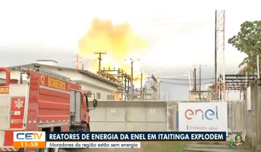 Explosão no Ceará foi transmitida ao vivo por afiliada da Globo