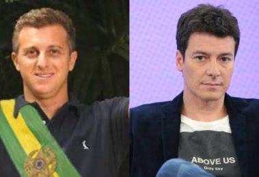 Luciano Huck e Rodrigo Faro (Foto: Reprodução/Record/Montagem TV Foco)