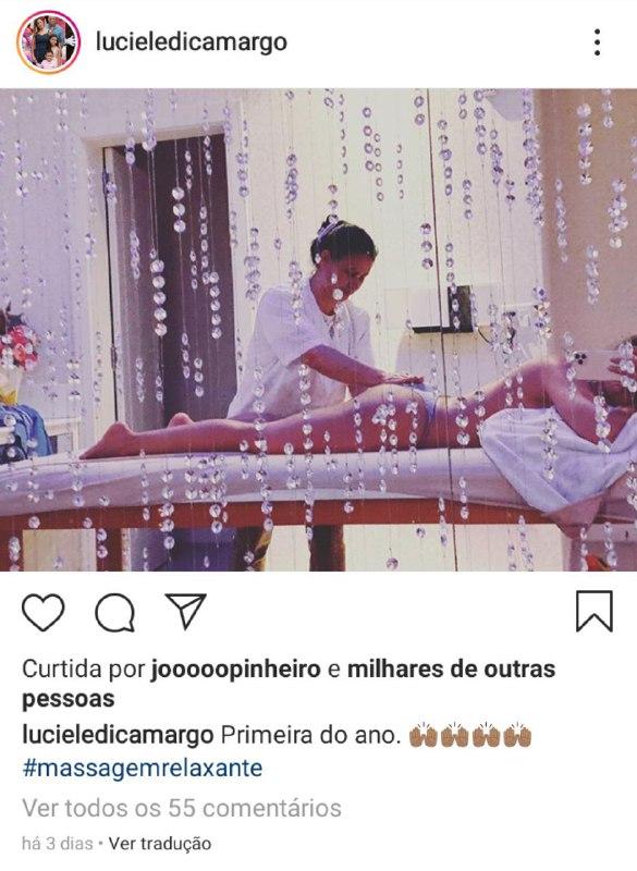 Irmã de Zezé Di Camargo, Luciele, resolveu causar ao mostrar o bumbum em uma foto ousada (Foto: Reprodução/ Instagram)