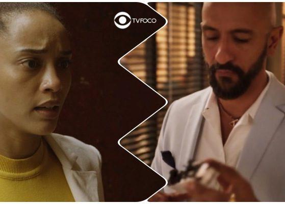 Álvaro e Vitória na novela Amor de Mãe