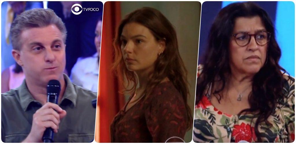 Luciano Huck, Betina e Lurdes em cena de Amor de Mãe