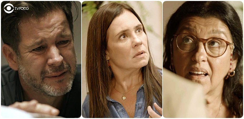 Raul, Thelma e Lurdes da novela Amor de Mãe