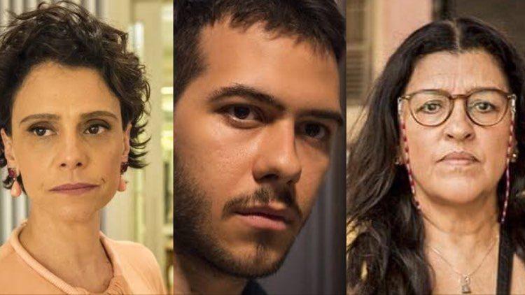 Em Amor de Mãe, segredo de Lídia, levanta suspeitas de que Vinícius pode ser Domênico, filho de Lurdes (Montagem: TV Foco_
