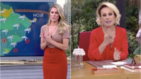 Ana Maria Braga interrompe Mais Você para boletim da Globo. Foto: Reprodução