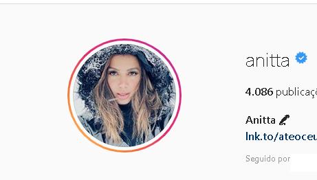 Nova imagem de perfil da cantora (Foto: Reprodução) Anitta