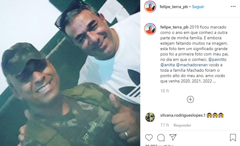 O irmão de Anitta, Felipe Terra, fez um agradecimento pelo ano de 2019 (Foto: Reprodução/ Instagram)