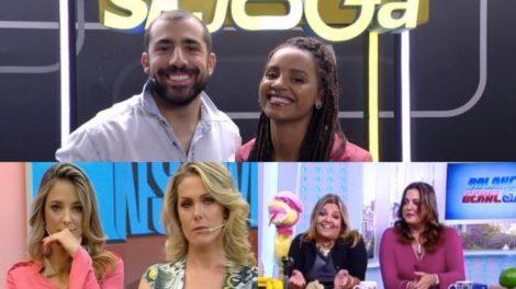 Se Joga, da Globo, vence Venenosa, da Record, e Hoje em Dia dá vexame. Foto: Reprodução
