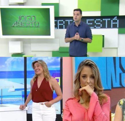 Se Joga, da Globo, Hoje em Dia, da Record, e Jogo Aberto, da Band. Foto: Reprodução