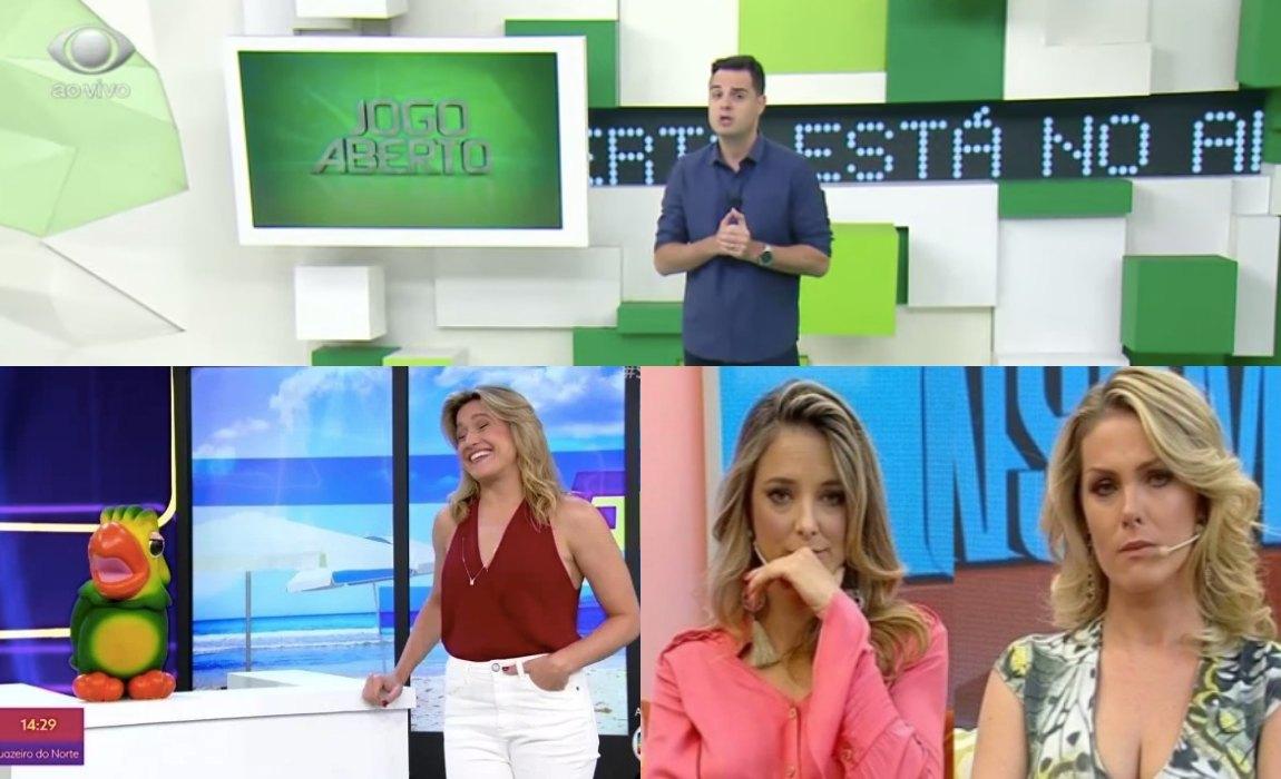 audiências Se Joga, da Globo, Hoje em Dia, da Record, e Jogo Aberto, da Band. Foto: Reprodução