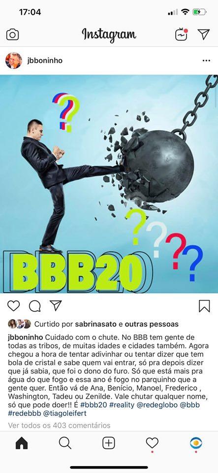 Boninho e Tiago Leifert pistola por causa do BBB20 (Foto: Reprodução)