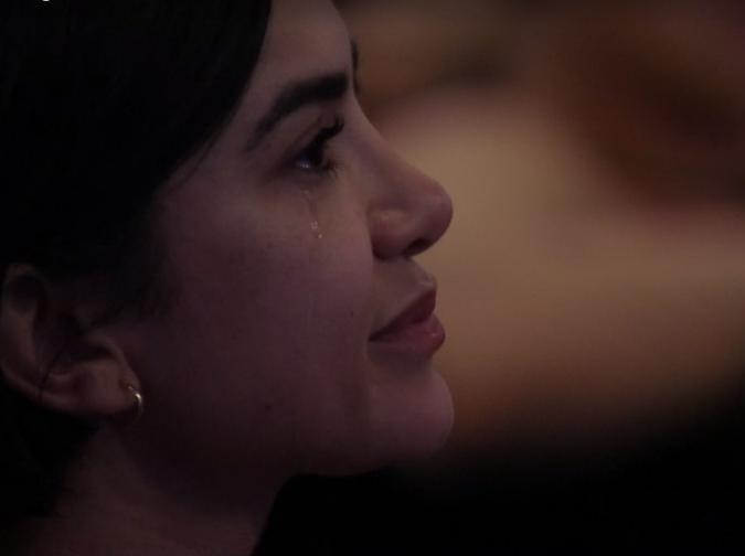 Manu Gavasssi chora no BBB20 com filme Minha Mãe é uma Peça 3 do Paulo Gustavo (Foto: Reprodução)