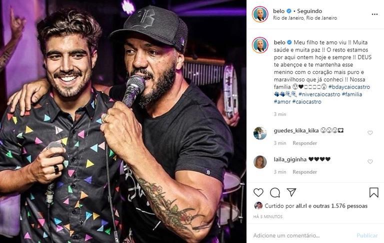 Belo parabeniza Caio Castro em seu aniversário e encanta (Foto: Instagram)