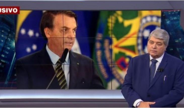 Datena em conversa com Bolsonaro no Brasil Urgente (Foto: Reprodução)