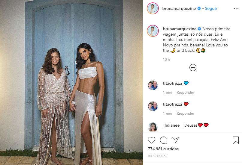 Internautas confundiram a irmã de Bruna Marquezine com uma suposta namorada (Foto: Reprodução/ Instagram)