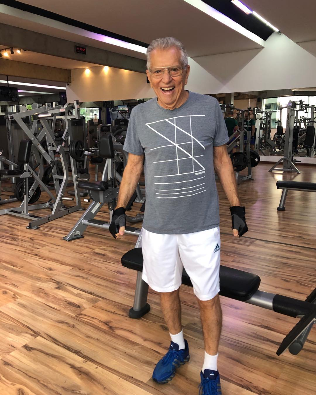 Carlos Alberto de Nóbrega comemorou melhora na saúde (Foto: Reprodução/Instagram)