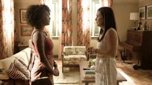 Camila e Thelma em cena da novela Amor de Mãe - Foto: Reprodução