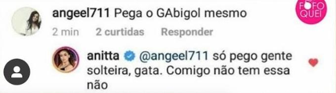 Anitta falou sobre Gabigol pela primeira vez