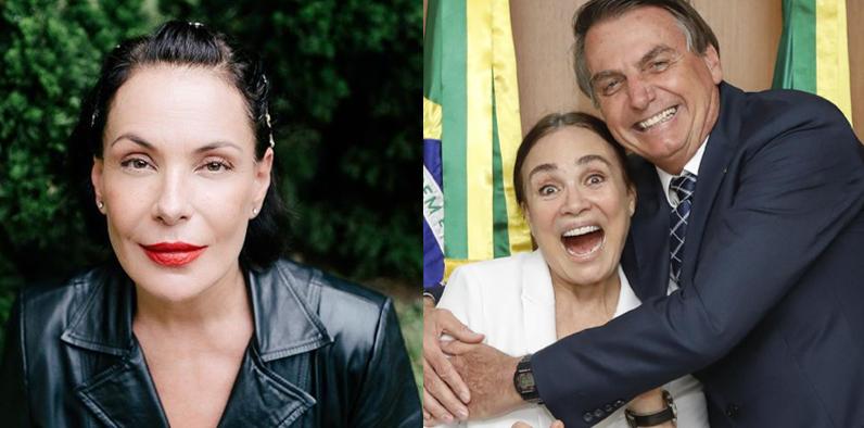 Carolina Ferraz não quer ter o nome vinculado ao governo de Bolsonaro e se revolta com atitude de Regina Duarte (Foto: Reprodução)