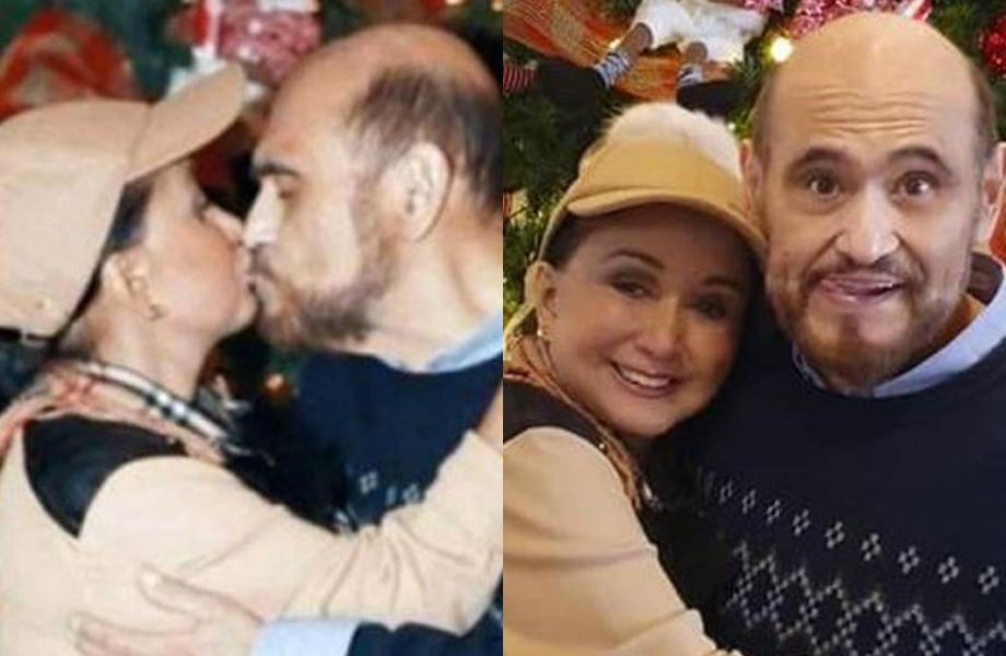 Interpretes de Chiquinha e Seu Barriga no Chaves protagonizam beijão e público vai ao delírio (Foto: Reprodução)