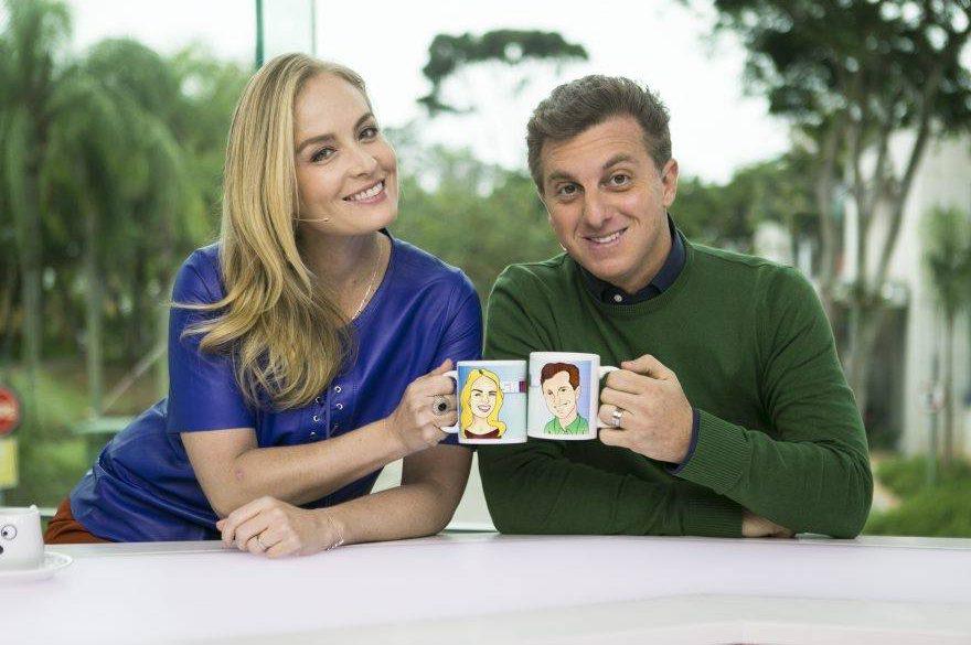 A apresentadora Angélica ao lado do marido, Luciano Huck - Foto: Divulgação