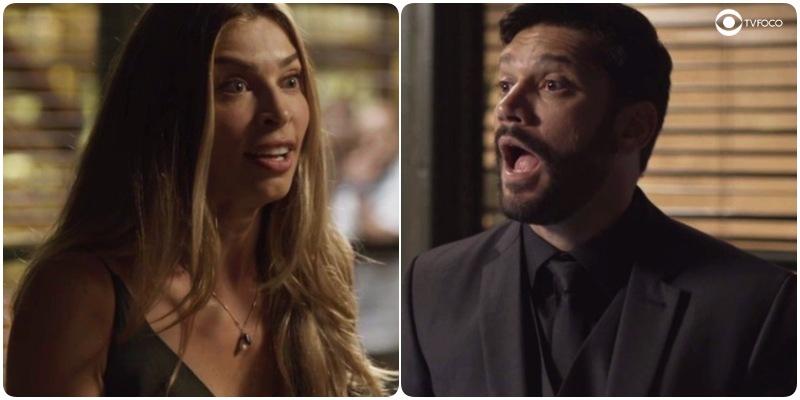 Diogo e Paloma se enfrentam na novela Bom Sucesso