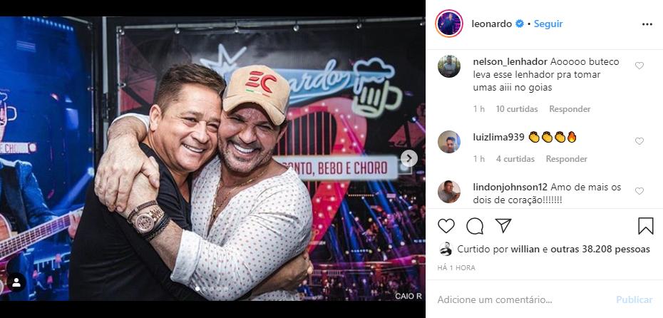 Leonardo falou sobre a relação com Eduardo Costa