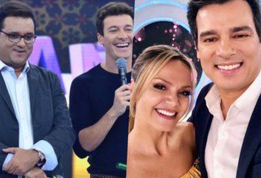 Geraldo Luis e Rodrigo Faro enfrentam a pesada concorrência de Eliana e Celso Portiolli (Foto reprodução)