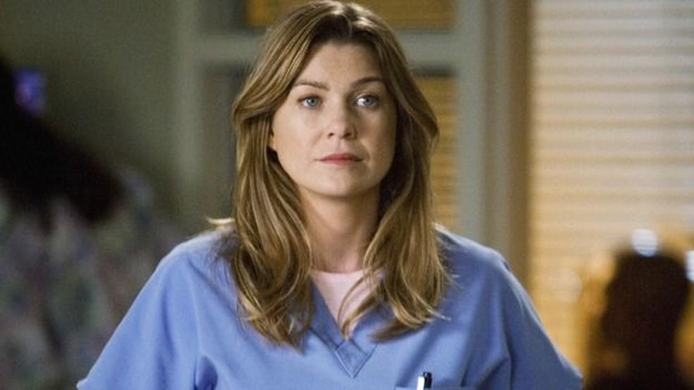 Ellen Pompeo interpreta Meredith Grey na série (Foto: Reprodução)